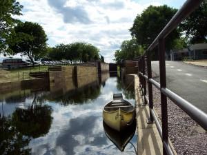 canoe on canal