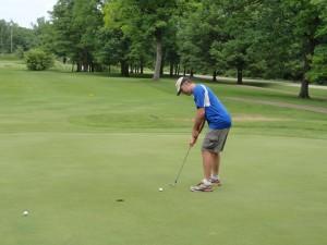 Chamber golf Blau putting