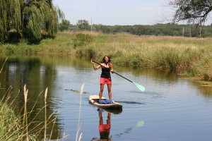 emmy on paddleboard