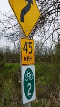 Columbia County Bike Loop sign